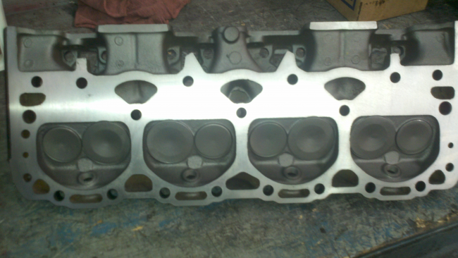 A Chevy 350 Head Ready to be installed after a last inspection
